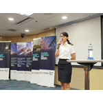 Laura Escobar, Purser Trainer of HKCYIA, gave a talk on cruise careers (Photo: HKCYIA)