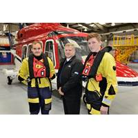 Steve Jones, ODE, with two 3sun Group apprentices as they prepare to go offshore (Photo: 3sun Group)