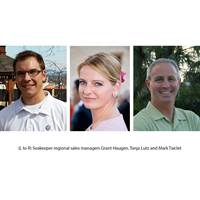 From left to right: Seakeeper regional sales managers Grant Haugen, Tanja Lutz and Mark Taiclet