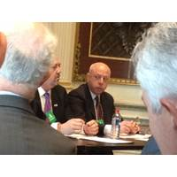 Tom Allegretti, Chairman of the American Maritime Partnership, discusses the Military2Maritime program that connects veterans with opportunities in the domestic maritime industry during a White House Veterans-Transportation Forum. (Photo: AMP)