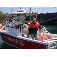 Capt. Shawn Brule of TowBoatUS Cape Cod aboard his towing response vessel.