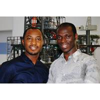 L to R: RGU postgraduate students Eugene Yeboah and Justice Ngoah
