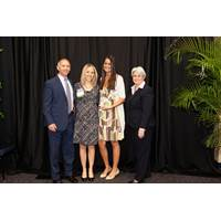 Angela Urso (third from left) accepting the award on Crowley's behalf (Photo: Crowley)