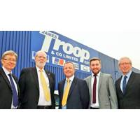 (L-R) Derek Bate, Bob Troop, Bobby Pollock, Sean Dignam, Stephen Griffit (Photo: James Troop & Co)
