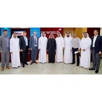 HE Sultan Ahmed bin Sulayem, Chairman and Group CEO of DP World (center) with executives of Dutco Balfour Beatty LLC, BAM International Abu Dhabi LLC – Dubai Branch and senior officials from DP World.  (Photo: DP World)