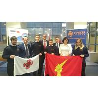 Cadets with Bibby Ship Management and X-Press Feeders staff (Photo: Bibby Ship Management)