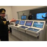 Kongsberg full mission engine room simulator, National University 'Odessa Maritime Academy' (Photo: ITF)