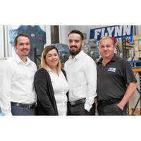 Left to right: Mike Roger, Emily Colwell, Marc Terry and Andy Nelson  (Photo: Flynn Refrigeration)