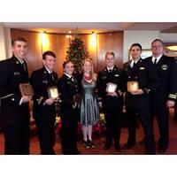 Crowley Maritime awarded six U.S. Merchant Marine Academy (USMMA) cadets with Thomas B. Crowley Memorial Scholarships. (Photo: Crowley Maritime)