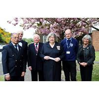 Captain Lawrence Aye-Manug MN Director Liverpool Seafarers Centre (LSC), Mr R Muirhead  Lord Lieutenant's Husband, Geoff Rafferty. Director LSC, Dame Lorna Muirhead Lord Lieutenant of Merseyside, John Wilson CEO LSC, Pamela Brown Director and Vice Chairman of LSC (Photo: LSC)