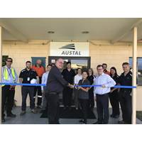 Hon Warren Entsch MP, Member for Leichardt joined Austal's Vice President, Defense RADM (Retd) Davyd Thomas AO CSC to open Austal's office in Cairns Queensland 10th July 2017. (Photo: Austal)