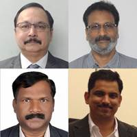 Clockwise from top left: Pravin Kirolikar, R Sudharshan, Viraj Padiyar, B. Jeyanthan (Photo: Goltens)
