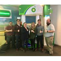 BP Shipping's Aggies left to right: Daniel Justus, Stewart Andrews, Jenny Long, Sara Broadrick, Garrett Jones and Michael Flannery.