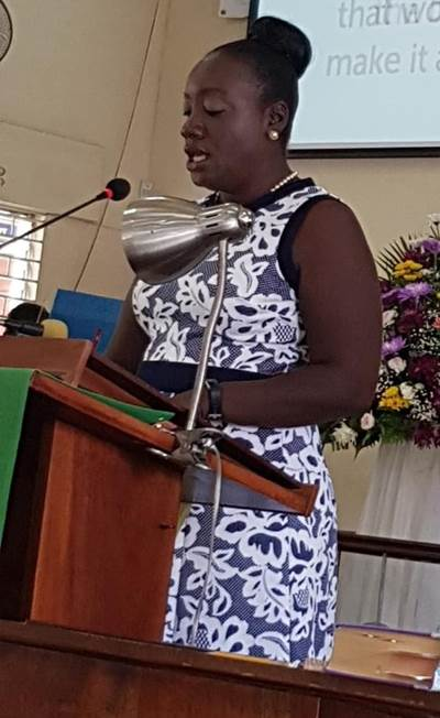 Scripture Reading by Nicole Wickham, President, Jamaica Chapter, Women in Maritime Association Caribbean (WiMAC). (Photo: WiMAC)