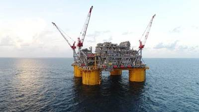 Shell's Appomattox platform in the Gulf of Mexico. Photo courtesy of Shell
