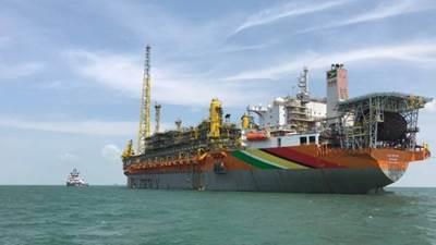 In Guyana, Exxon produces oil via the Liza Destiny FPSO (File photo: Hess Corp)