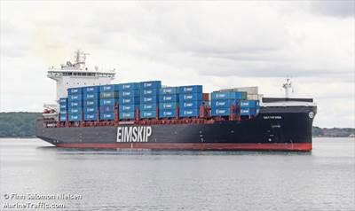 An Eimskip vessel Credit: Finn Salomon Nielsen/MarineTraffic.com