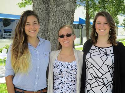 Alexis Miller, Danielle Leahy and Kaitlin Badgett (Photo: Canaveral Port Authority)