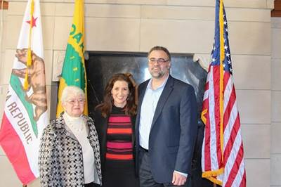 From left to right: Arabella Martinez, Libby Schaaf and Andreas Cluver (Photo: Port of Oakland)