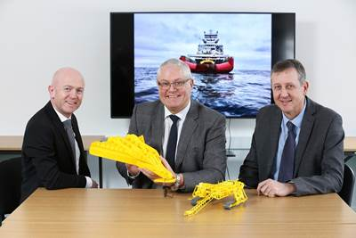 ESS managing director Mark Gillespie, global business development manager Andy Readyhough and commercial director Iain Middleton. (Photo: ESS)