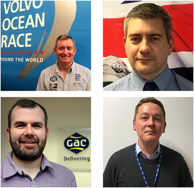 Top (left to right): Jeremy Troughton, General Manager - Marine Leisure & Events, GAC UK and Wynne Raymond, General Manager - Shipping, GAC UK; bottom (left to right): Adrian Henry, General Manager - Oil, Gas & Renewables, GAC UK and Mark Horton, General Manager - Freight Services, GAC UK (Photos: GAC)