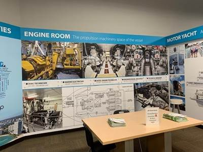 Engine Room Wall (Photo: Advanced Mechanical Enterprises)