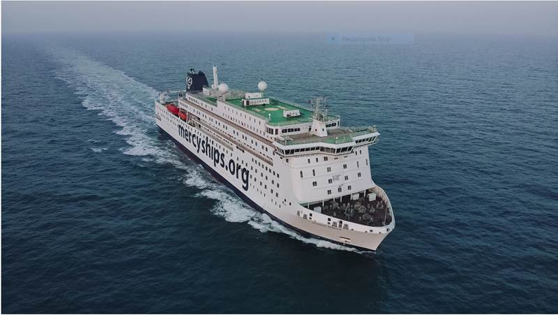 Mercy Ships announces the delivery of the Global Mercy — the world's largest civilian hospital ship, built to more than double its capacity to deliver safe healthcare and medical training to Africa. (Photo courtesy Mercy Ships)