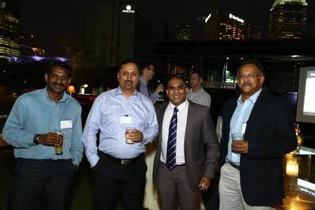 Capt Vijayachelvan, Pacific International Lines; Alok Nautiyal, Liberty Navigation; Ryan Kumar, Direct Search Asia; and Sugato Roy, BW LPG