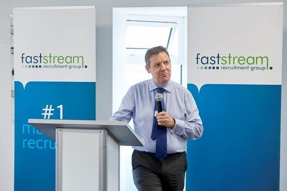 UK Chamber of Shipping CEO, Guy Platten, addressing guests (Photo: Faststream)
