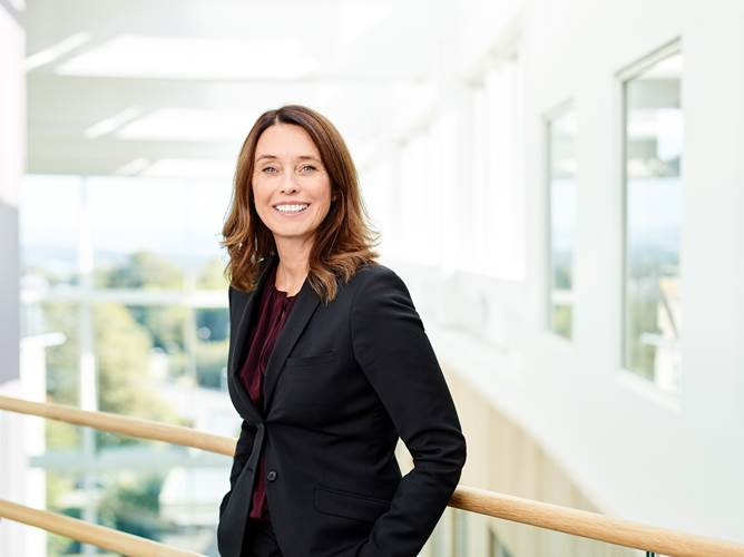 "Hege Skryseth, Executive Vice President, KONGSBERG and President, Kongsberg Digital: ""The Cloud is fundamental to digital transformation: it is the infrastructure; digital transformation is its application."" (Photo: Kongsberg)"