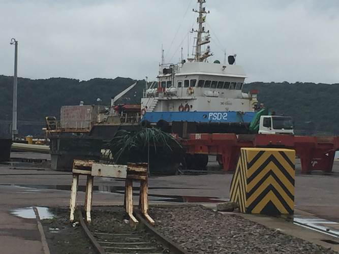 Tug/supply ship PSD2 was detained in the Port of Durban for non-payment of wages (Photo: AoS)